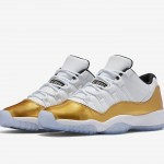 """【8月27日9:00~発売予定】Air Jordan 11 Low """"White/Gold"""" 【直リンクあり】"""