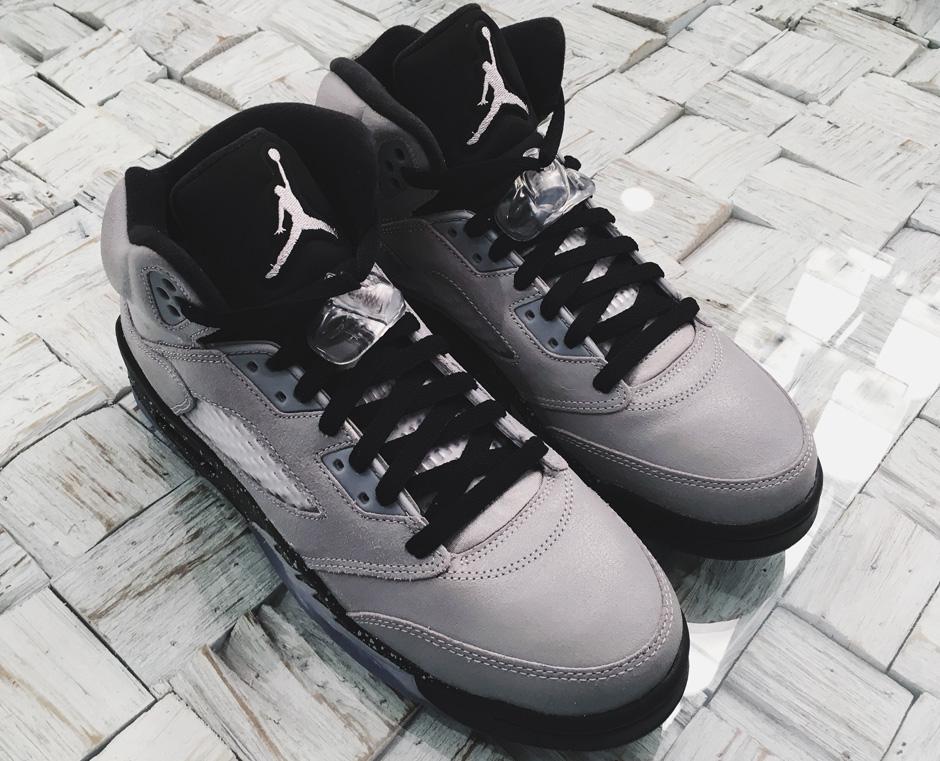 "Air Jordan 5 Retro ""Wolf Grey/Black-Black"""