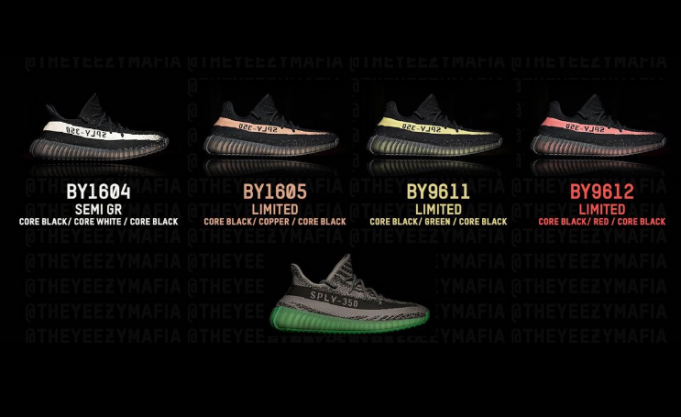 Adidas yeezy boost 350 v2 black green core black green