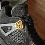 """【リーク】Nike Air Jordan 4 Black Suede """"Glow In The Dark""""【ナイキ エアジョーダン4 グローインザダーク】"""