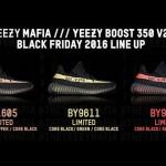 【11月25日発売】Yeezy Boost 350 V2 Black Friday 2016 lineup!!【イージーブースト350 V2 ブラックフライデー】
