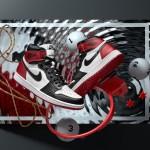 """【11月5日発売 公式画像】Air Jordan 1 Retro High OG """"Black Toe""""【エアジョーダン1 レトロ ハイ つま黒】"""