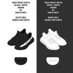 """【イージーブースト 350 V2 発売日】adidas Yeezy Boost 350 V2 """"Black/White"""" and """"All White"""""""