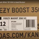 【Yeezy Boost 350 V2】発売前にイージーブースト350 V2 黒白を入手した人が動画をUP!!!!