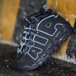 """【リーク】Nike Air More Uptempo """"Triple Black"""" with 3M Reflective【エアモアアップテンポ トリプルブラック リフレクティブ】"""