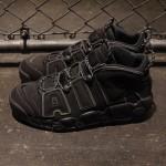 """【12月3日発売予定】Nike Air More Uptempo """"Triple Black"""" with 3M Reflective【エアモアアップテンポ トリプルブラック リフレクティブ】"""