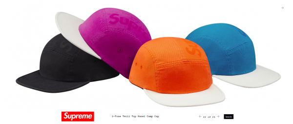 Supreme 2 Tone Twill Top Panel Camp Cap