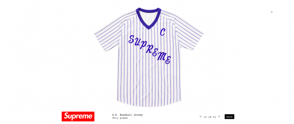 Supreme A.D. Baseball Jersey