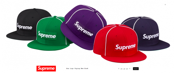Supreme Box Logo Piping New Era®