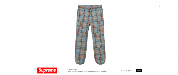 Supreme Cargo Pant