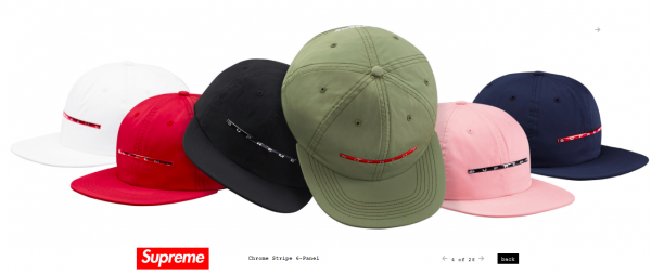 Supreme Chrome Stripe 6 Panel
