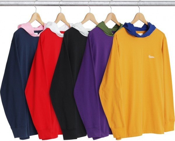 Supreme Contrast Hooded L S Top-01
