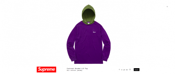 Supreme Contrast Hooded L S Top