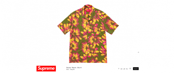 Supreme Daisy Rayon Shirt