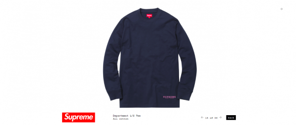 Supreme Department L S Tee