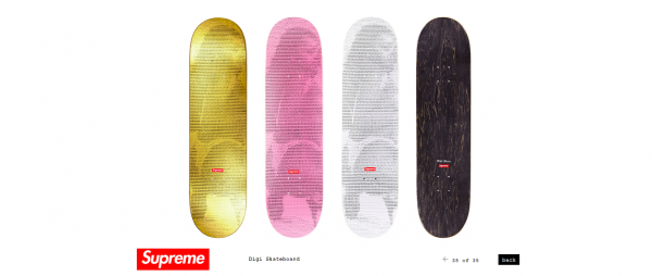 Supreme Digi Skateboard
