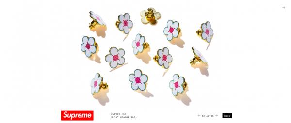 Supreme Flower Pin