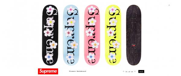 Supreme Flowers Skateboard