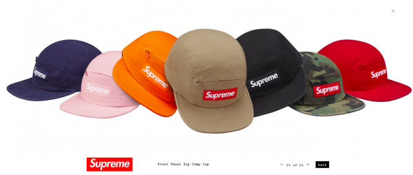 Supreme Front Panel Zip Camp Cap