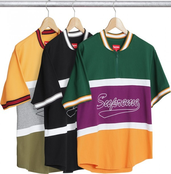 Supreme Half Zip S S Baseball Top-01