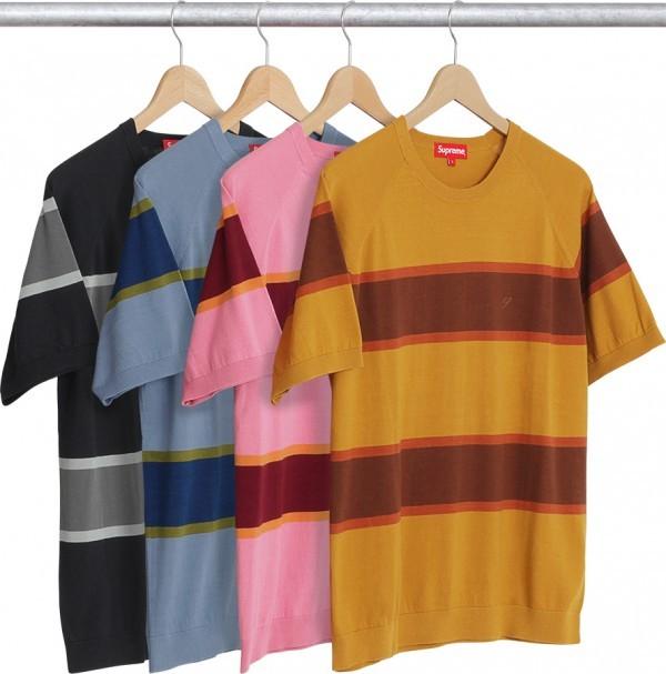 Supreme Knit Stripe S S Raglan Top-01