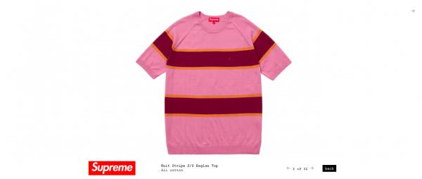 Supreme Knit Stripe S S Raglan Top