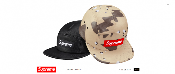 Supreme Leather Camp Cap