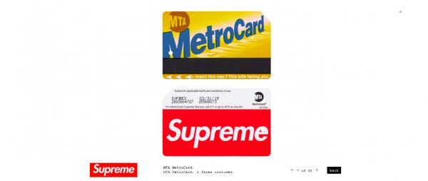 Supreme MTA MetroCard