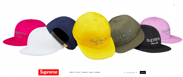 Supreme Multi Color Classic Logo 6 Panel