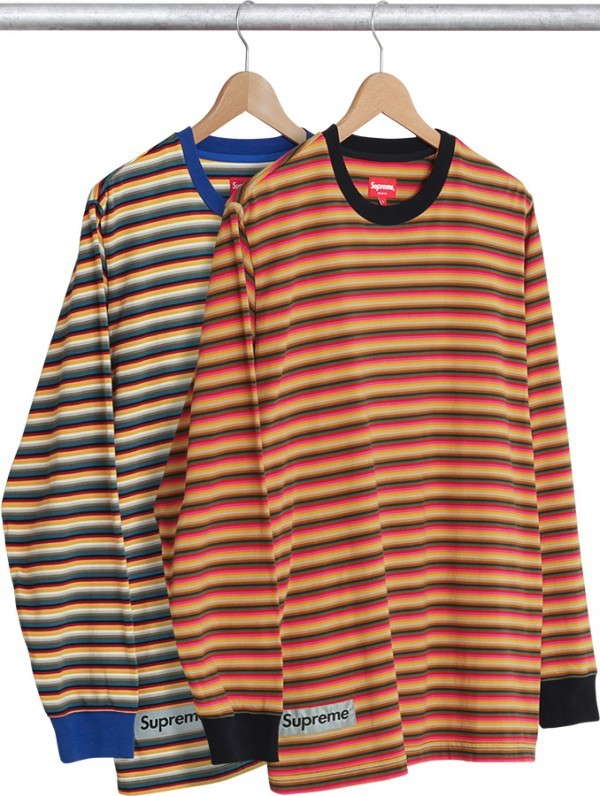 Supreme Multi Stripe Reflective Patch L S Top-01