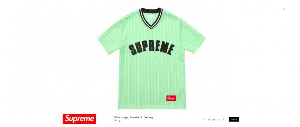 Supreme Pinstripe Baseball Jersey