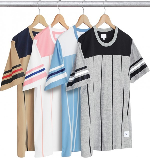 Supreme Pinstripe S S Football Top-01