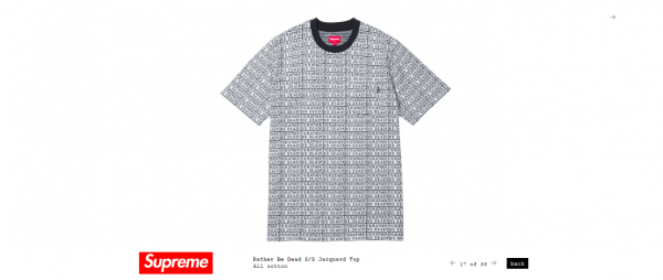 Supreme Rather Be Dead S S Jacquard Top