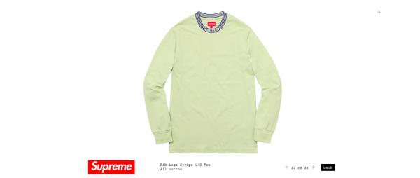Supreme Rib Logo Stripe L S Tee