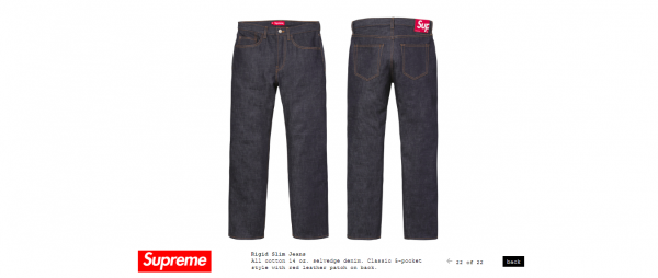 Supreme Rigid Slim Jeans