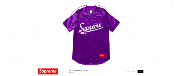 Supreme Satin Baseball Jersey