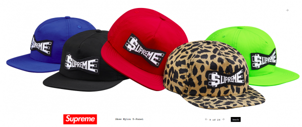 Supreme Skew Nylon 5 Panel