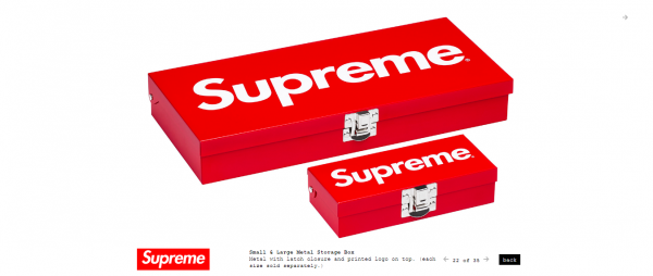 Supreme Small Large Metal Storage Box