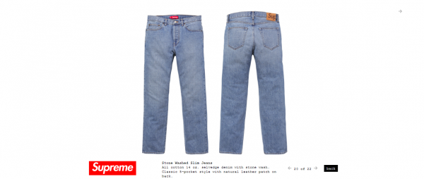 Supreme Stone Washed Slim Jeans