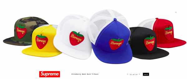 Supreme Strawberry Mesh Back 5 Panel