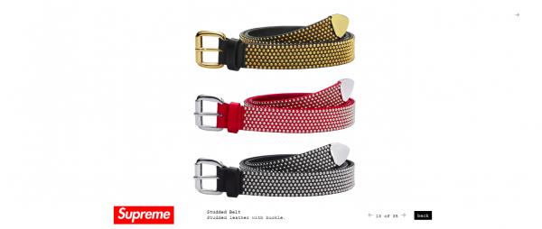 Supreme Studded Belt