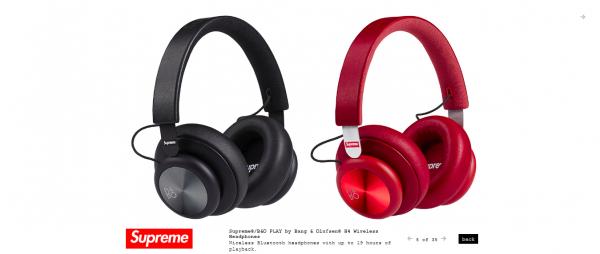 Supreme Supreme® B O PLAY by Bang Olufsen® H4 Wireless Headphones