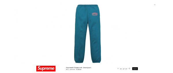 Supreme Supreme® Champion® Sweatpant