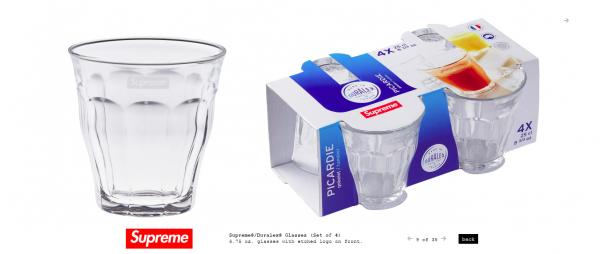 Supreme Supreme® Duralex® Glasses Set of 4