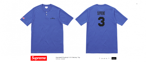 Supreme Supreme® Playboy© S S Henley Top