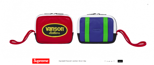 Supreme Supreme® Vanson® Leather Wrist Bag