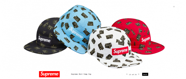 Supreme Supreme Shit Camp Cap
