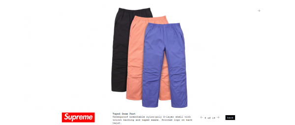 Supreme Taped Seam Pant