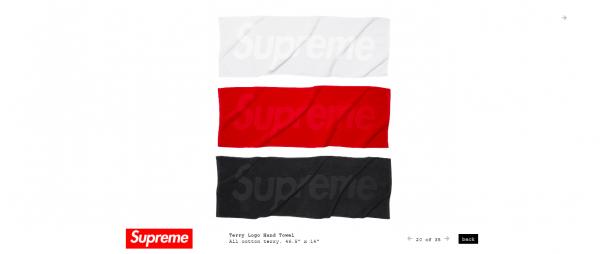 Supreme Terry Logo Hand Towel