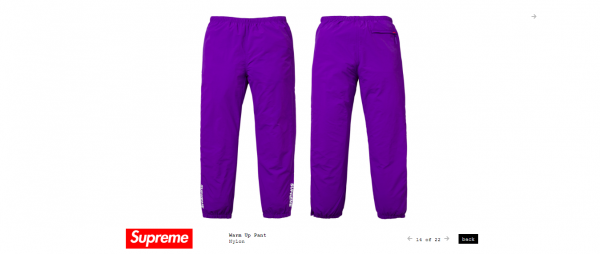 Supreme Warm Up Pant